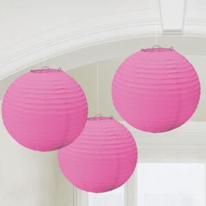 Laternen rund pink