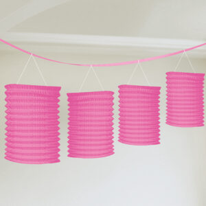 Laternen-Girlande pink