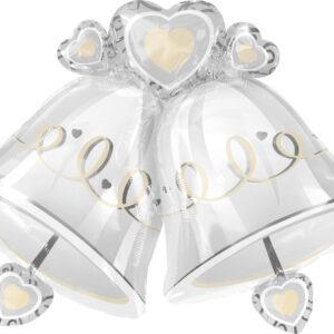 Folienballon Hochzeitsglocken