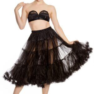 Petticoat lang schwarz Gr. L/XXL