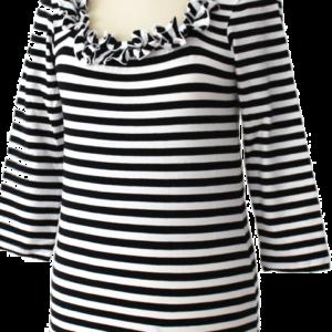 Ringelshirt Caree schwarz-weiß Gr. 4 XL