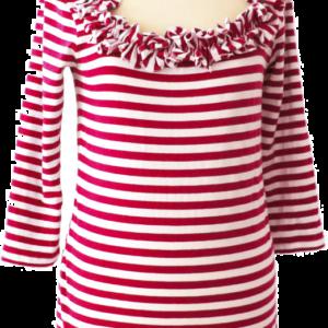 Ringelshirt Caree rot-weiß Gr. 4XL