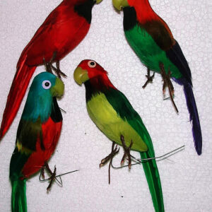 Papagei Ara 12 cm Echte Federn