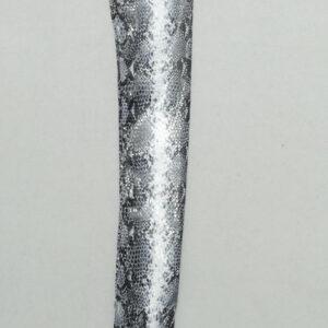 Handschuhe im Schlangen Design schwarz/ weiß, Länge 30 cm