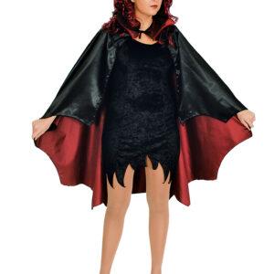 Cape Vampir schwarz rotgefüttert 115 cm.
