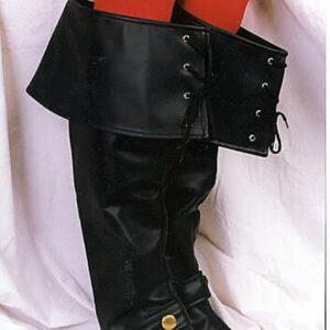 Luxus Stiefelstulpen, schwarz