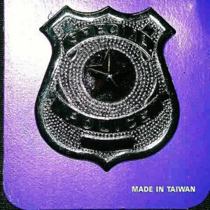 Metall Abzeichen Special Police silbern