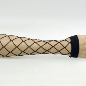 Riesennetz Armstulpen, schwarz