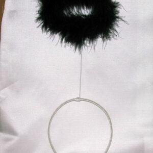 Haarreif Heiligenschein Marabu schwarz