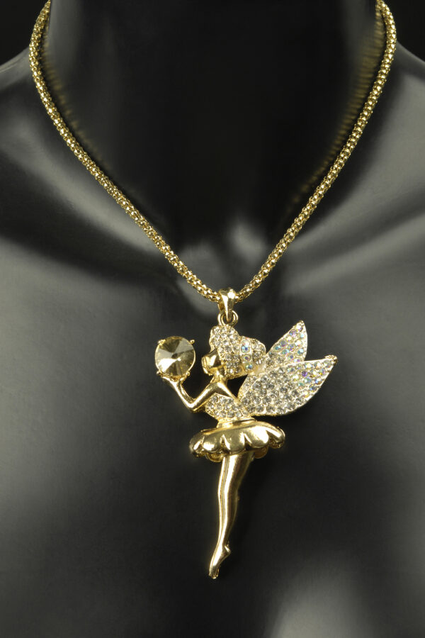 Halskette Ballerina gold mit Straß