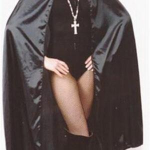 Umhang, 115 cm Lang, schwarz