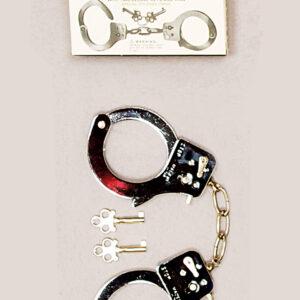 Handschellen mit Schlüsseln aus Metall
