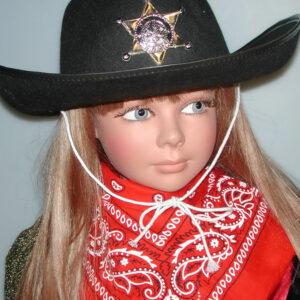 Cowboyhut für Kinder, schwarz