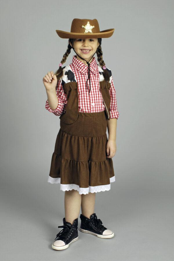 Kinderkostüm Cowgirl 3teilig Gr. 98/104