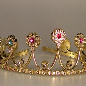Diadem in Gold mit Steinen