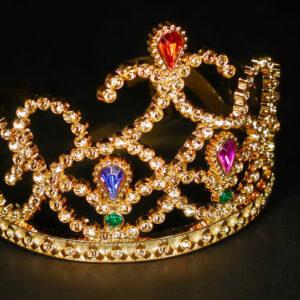 Diadem Prinzessin mit Juwelen, gold