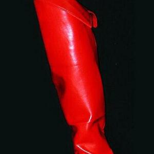 Schaftstulpen, Ladylike rot