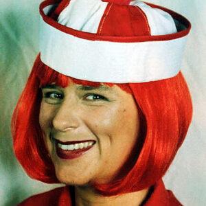 Bobby Cap, rot/weiß, gute Qualität
