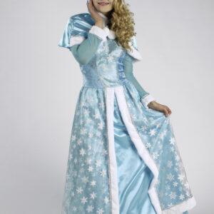 Kostüm Schneekönigin Kleid + Cape Gr. 36-38