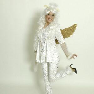 Kostüm Engelchen mit goldenen Sternen Gr. 36-38