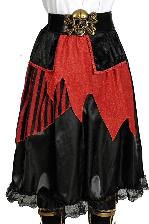 Damenrock mit Gürtel Piratin Gr. 36-38
