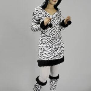 Damenkostüm Zebra 2teilig Gr. 40-42