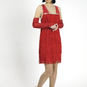 Kostüm Twenties, rot, Größe 40-42