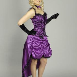 Kostüm Saloongirl - Kostüm und Hut - Gr.40-42