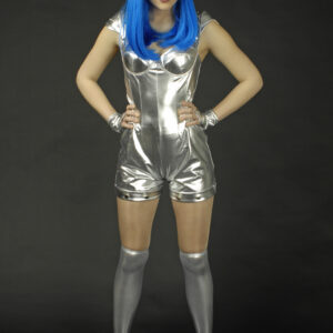 Damenanzug Spacegirl silber Gr. 40-42