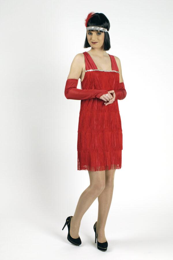 Kostüm Twenties, rot, Größe 44-46