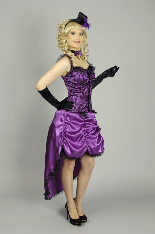 Kostüm Saloongirl - Kostüm und Hut - Gr.44-46