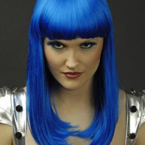 Perücke Josie blau kanekalon