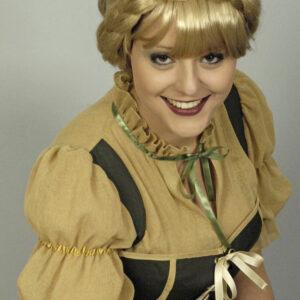 Perücke Bauernkranz blond