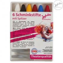6 Schminkstifte mit Spitzer