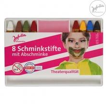8 Schminkstifte mit Abschminke