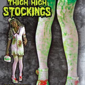 Überkniestrümpfe Zombie Universalgröße