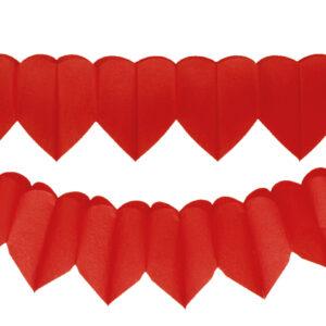 Herzgirlanden rot 2Stk