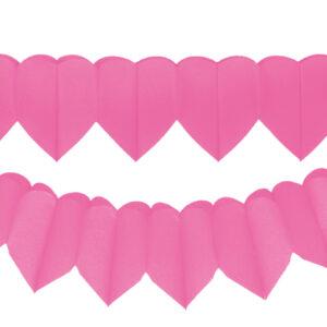 Herzgirlanden pink 2Stk