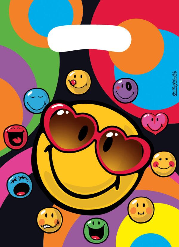 Partytüten Smiley Express Yourself 6Stk