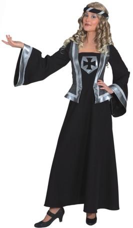 Ritterdame,lang (Kleid,Kopfband) Gr./KW: 48