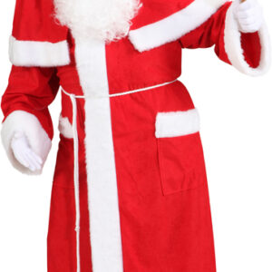 Weihnachtsmannmantel rot m. Gürtel & Pelerine Gr./KW: 56/58