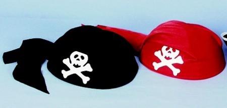 Piratenkappe,rot f. Kinder Gr./KW: Kindergr.