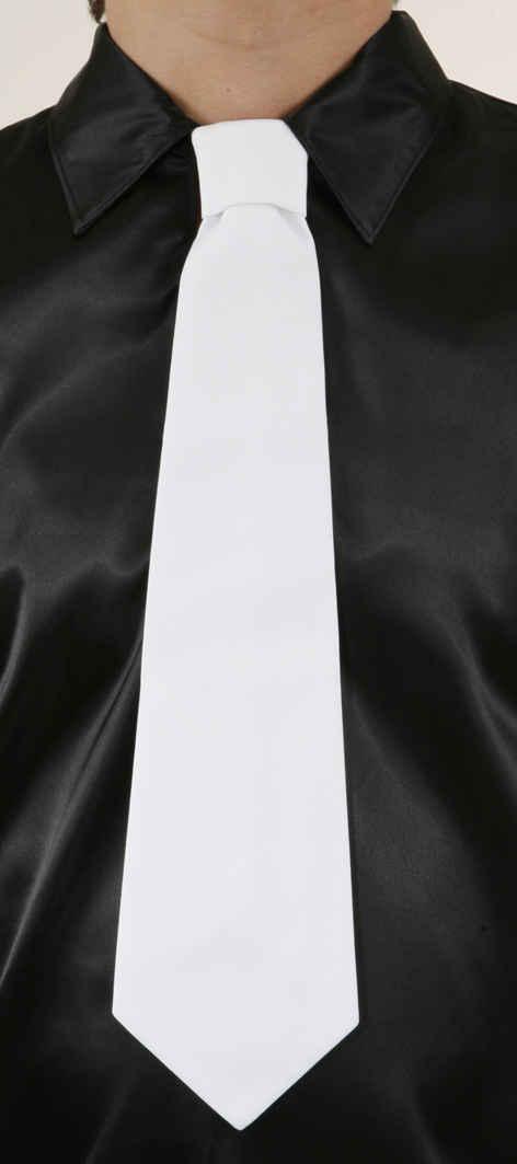 Krawatte,weiß (gebunden)