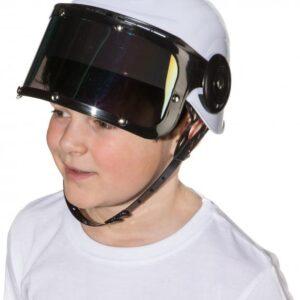 Astronautenhelm f. Kinder (Helm m. Visier) Gr.Kinder