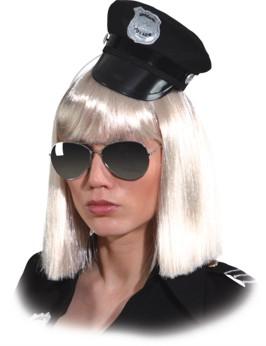 Minihut Police,schwarz Gr./KW: Einheitsgr.