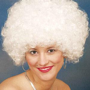 Hair große Locke,weiß