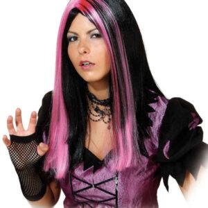 Bunte Hexe,schwarz-pink