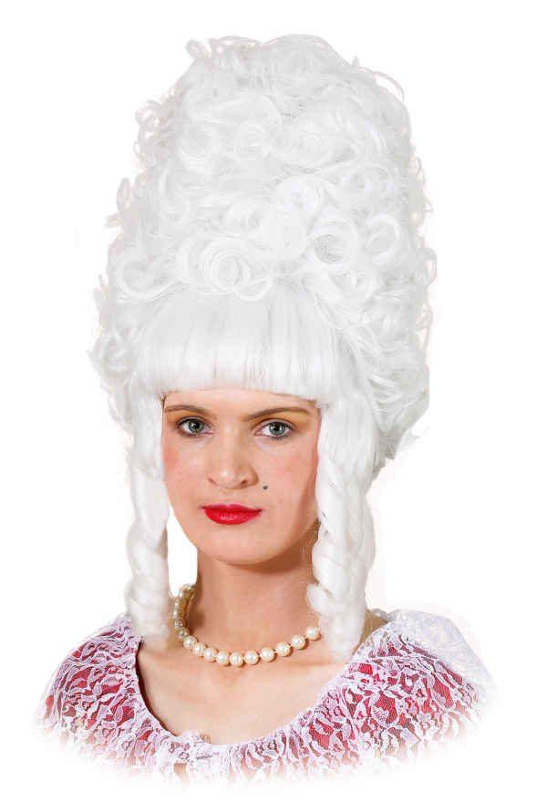 Perücke Lady Pompadur weiß