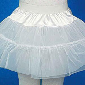 Petticoat,weiß f. Kinder Gr./KW: 128