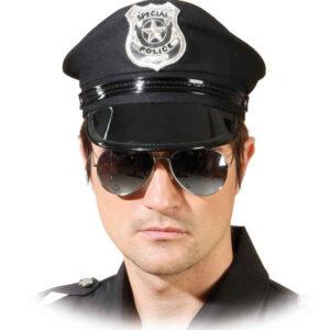 Polizei-Brille verspiegelt m. Silberrand
